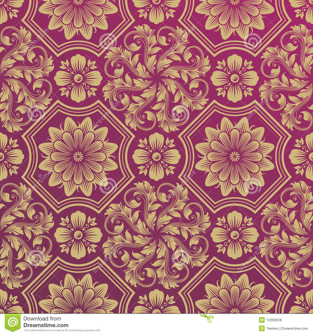 Damask Wallpaper Royalty Free Stock Photos Image 12392628