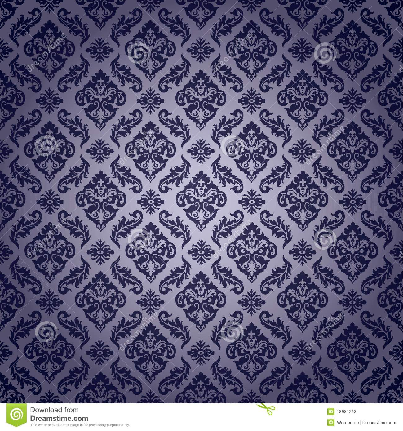 Damask Wallpaper Stock Vector Illustration Of Backdrop