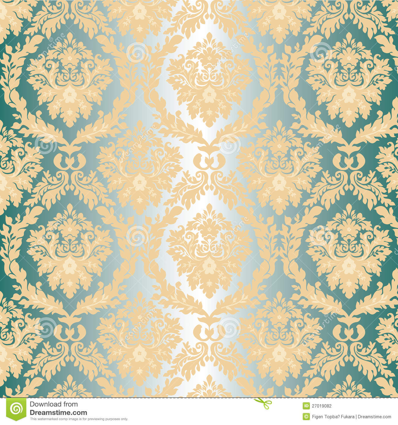 cream silver and gold wallpaper