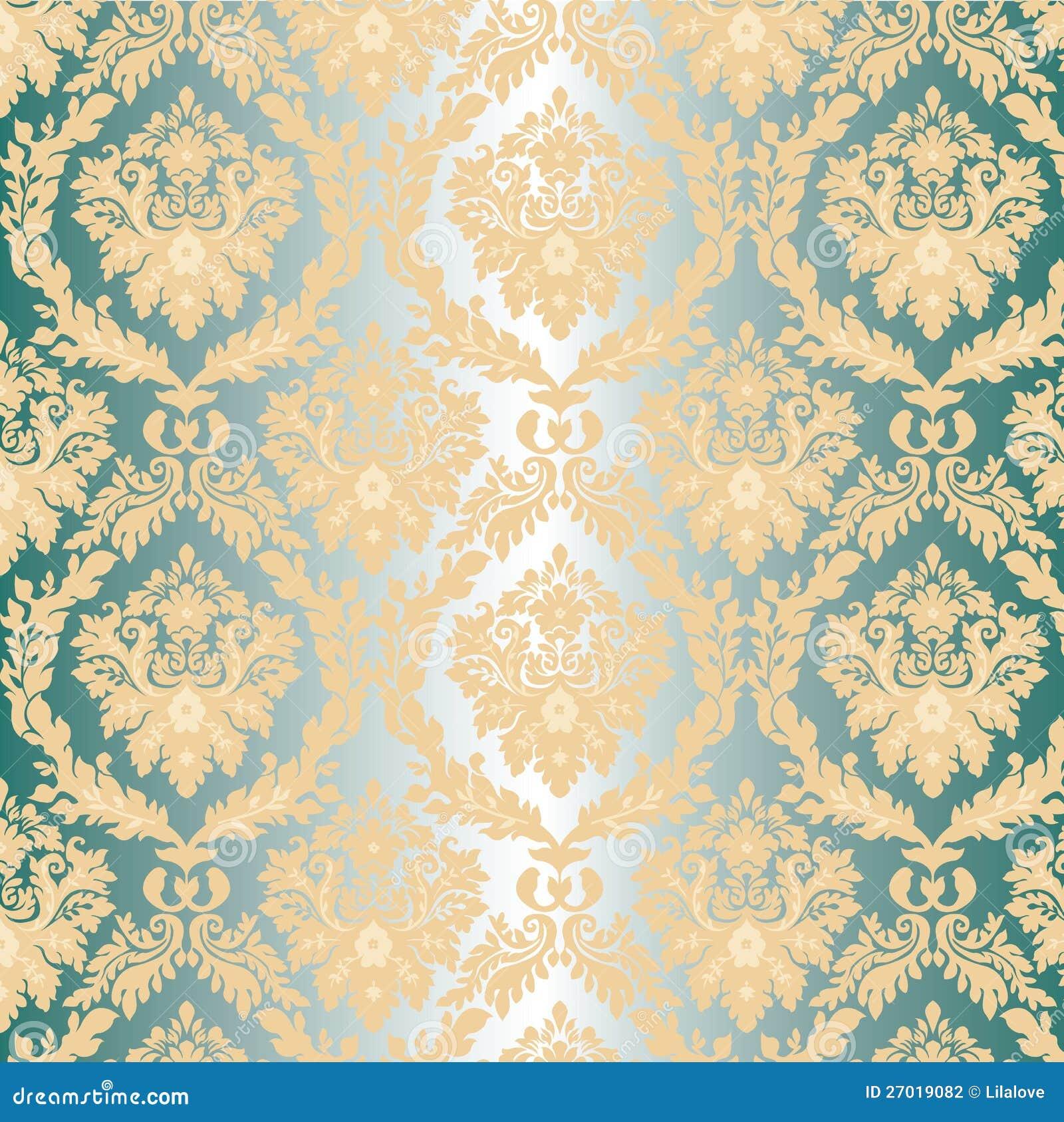 cream silver and gold wallpaper