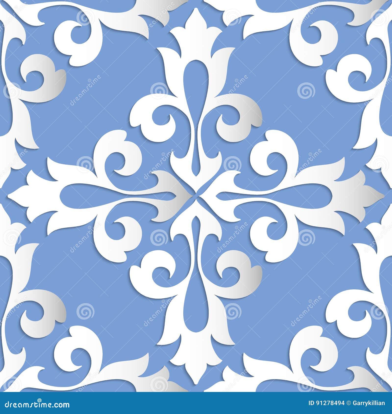 Damast sömlös modellbeståndsdel för vektor Elegant lyxig textur för tapeter, bakgrunder och sidan fyller