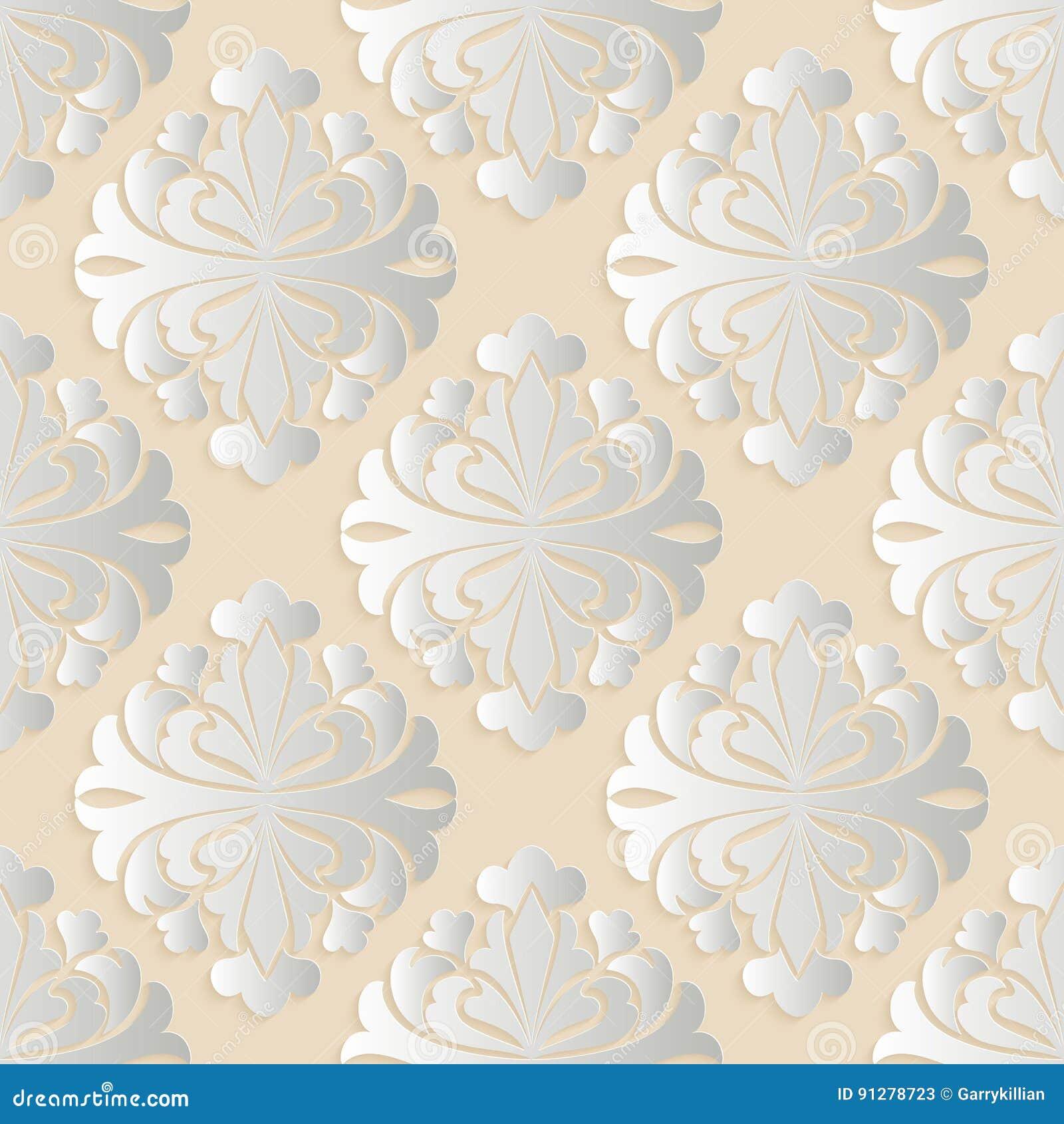 Damastast seamless modellbakgrund för vektor Elegant lyxig textur för tapeter, bakgrunder och sidan fyller