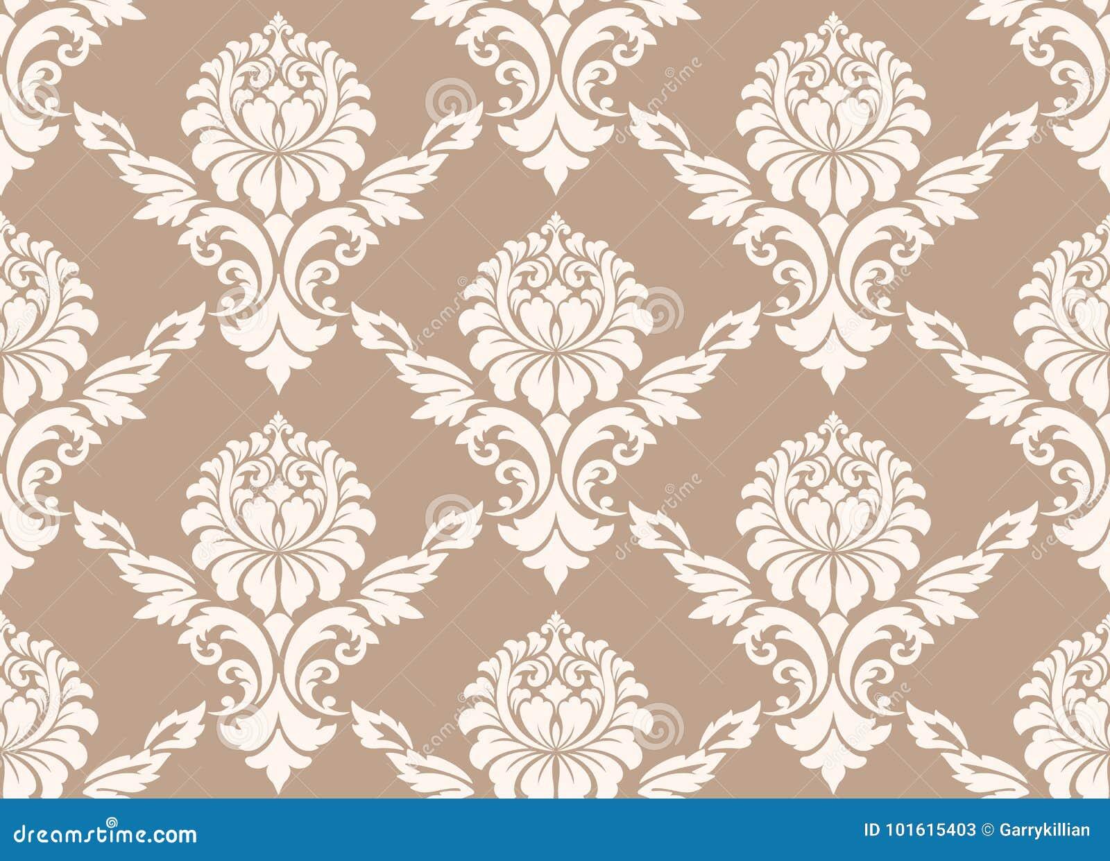 Damastast seamless modellbakgrund för vektor Klassisk lyxig gammalmodig damast prydnad, sömlös kunglig victorian