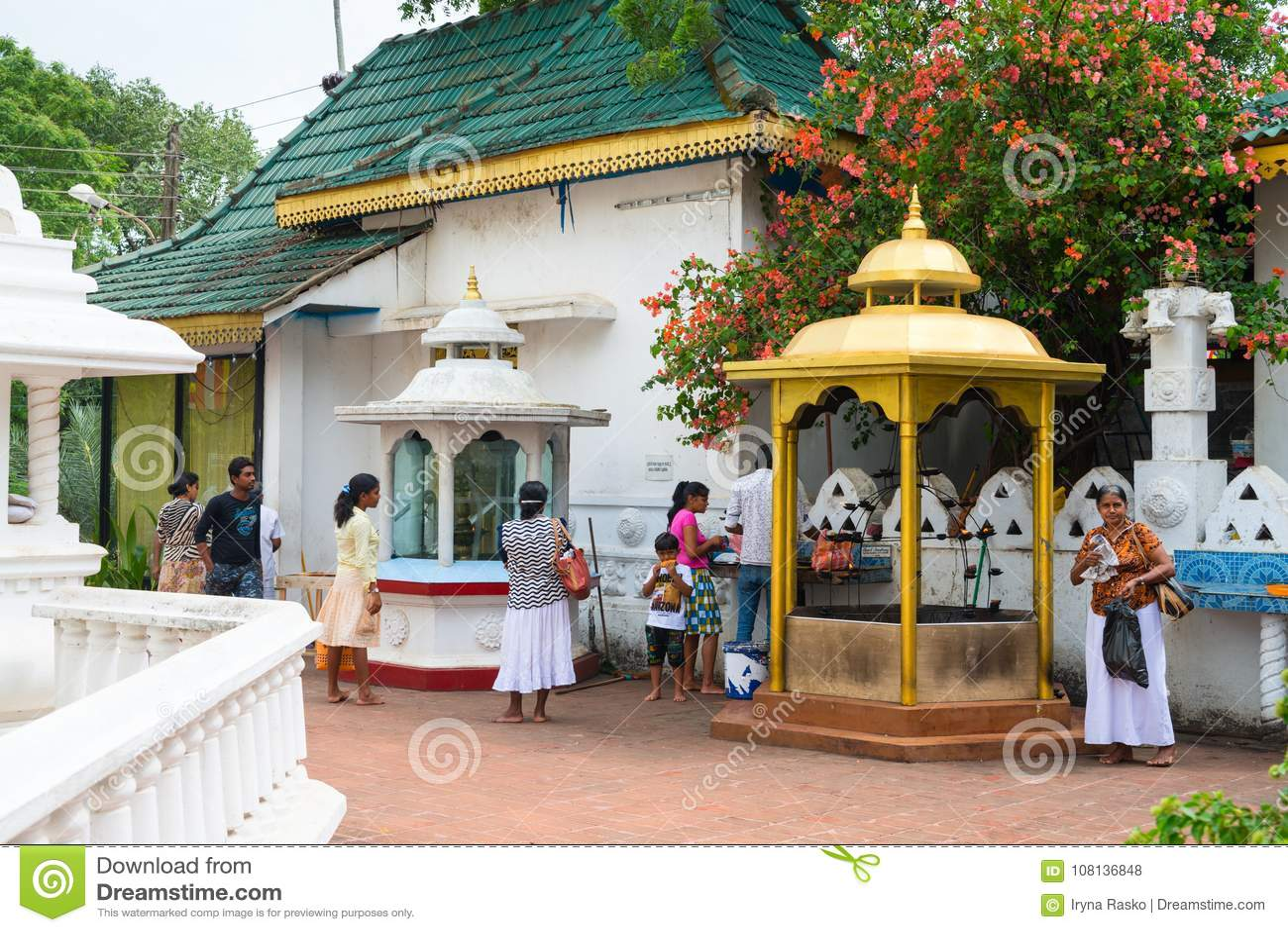 Hindu Devalay Pattini devi temple in Dambulla cave temple in Sri