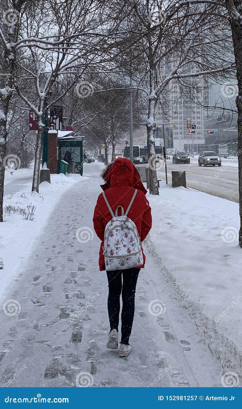 Dame in de Rode Winter