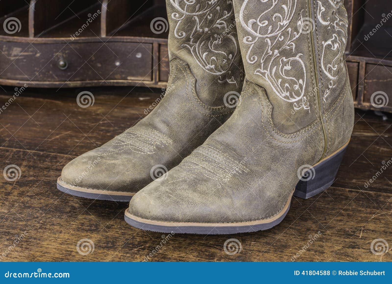 Cowboy Von Damen StockfotoBild TraditionellLeder Boots K1lFcJ
