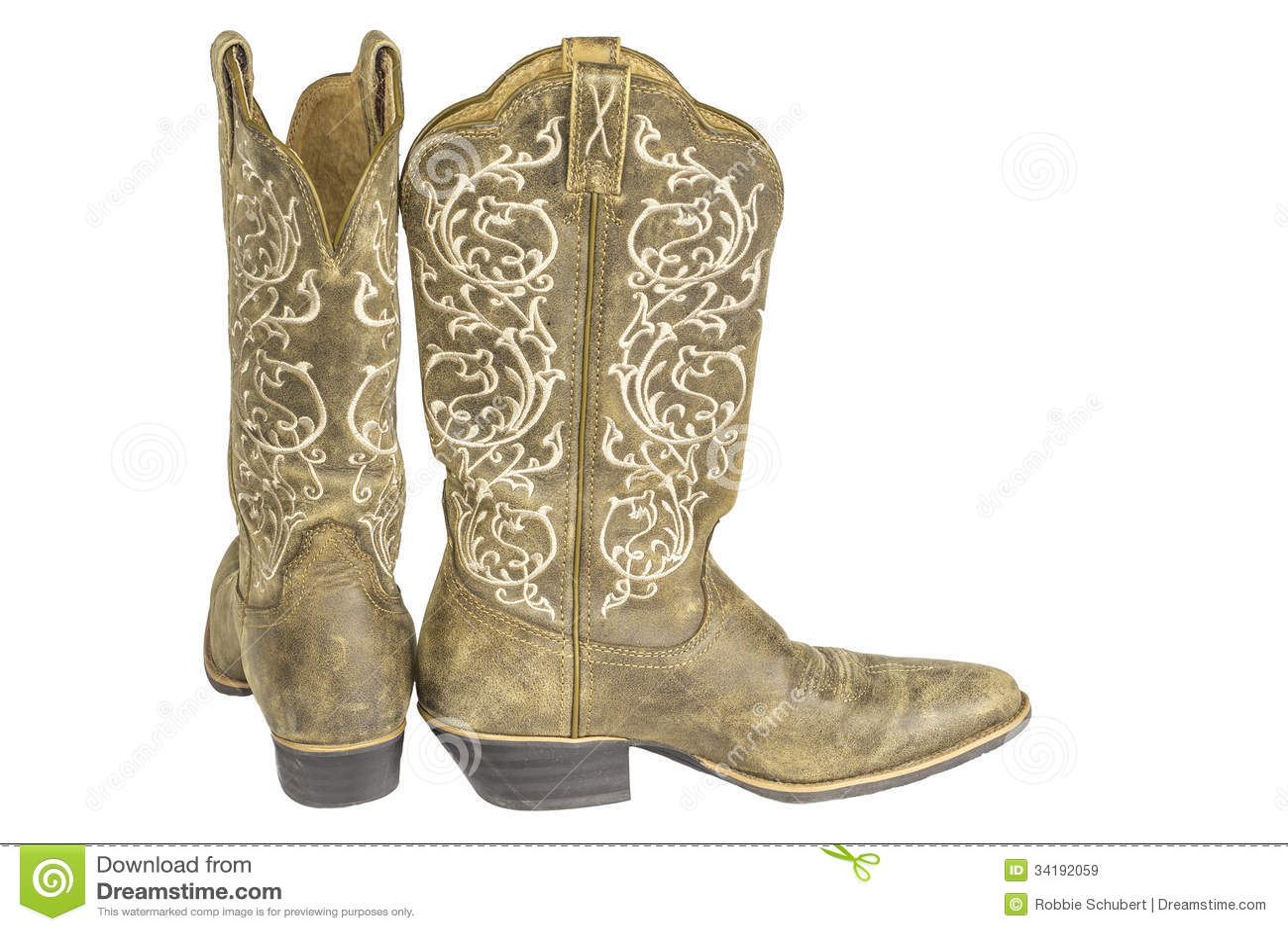 Bruine Westelijke Cowboy Dames Stock Afbeelding Boots T1c3lFJK
