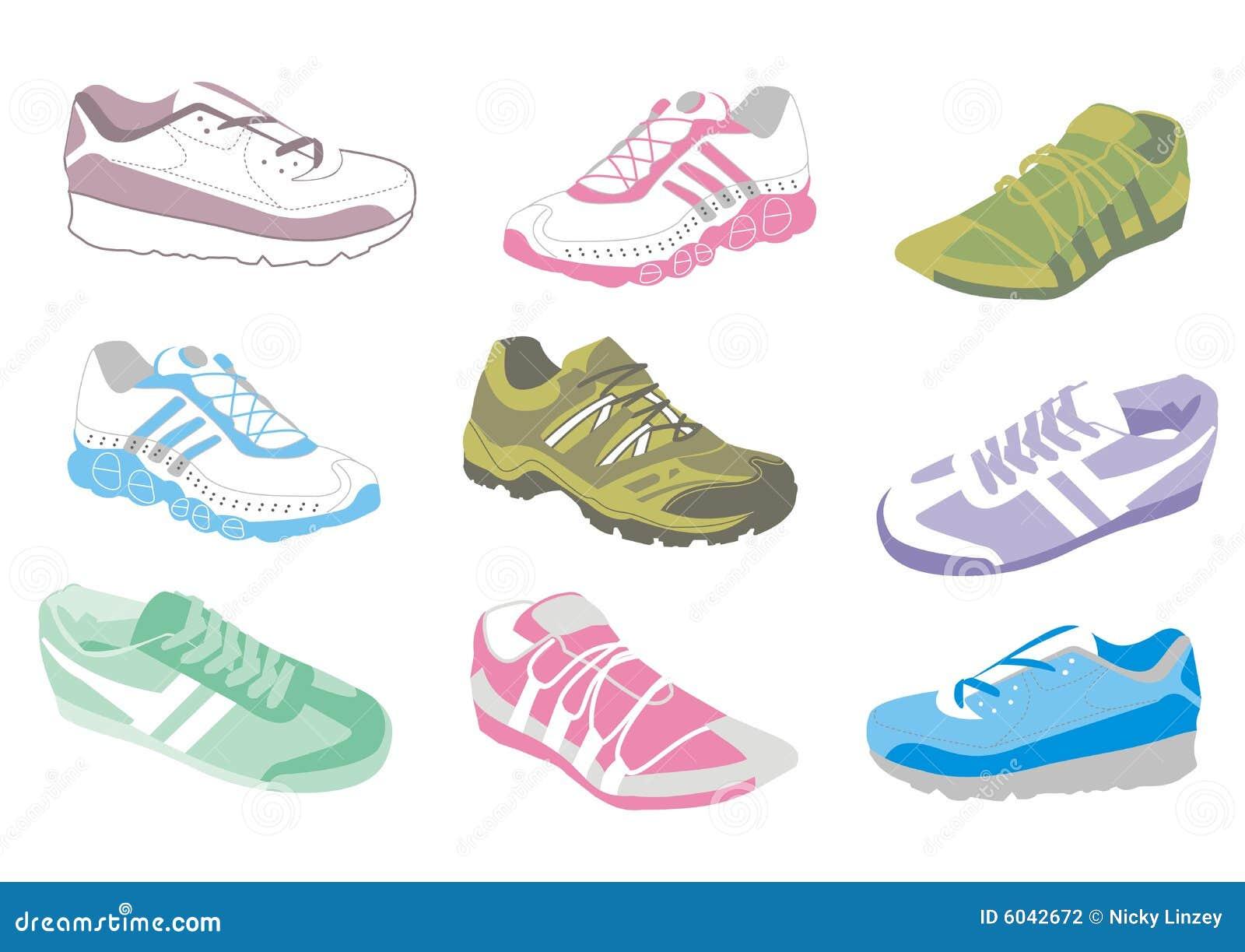 Dames Die Schoenen Opleiden Stock Illustratie Illustratie