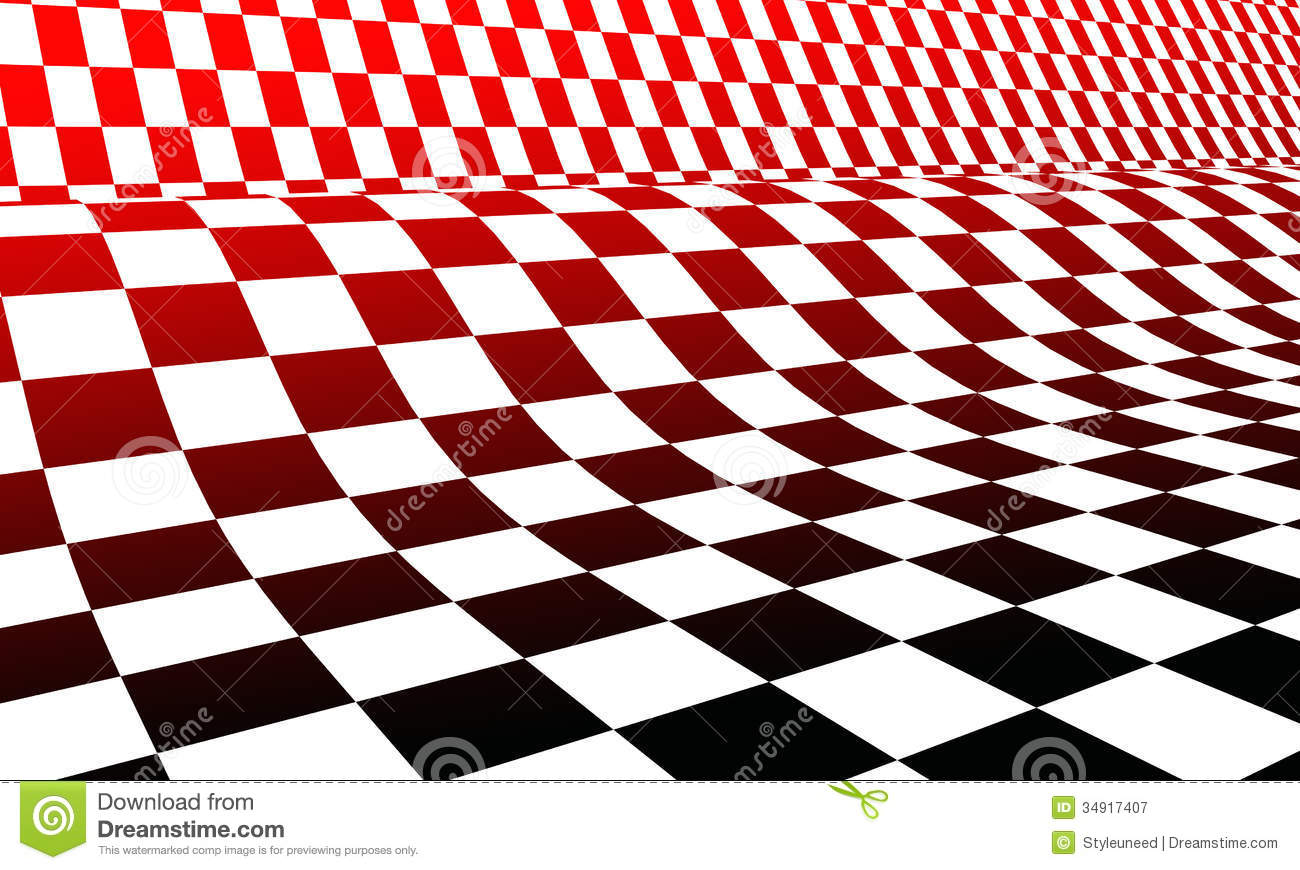 Damier blanc et noir rouge illustration stock image du for Carrelage damier rouge et blanc