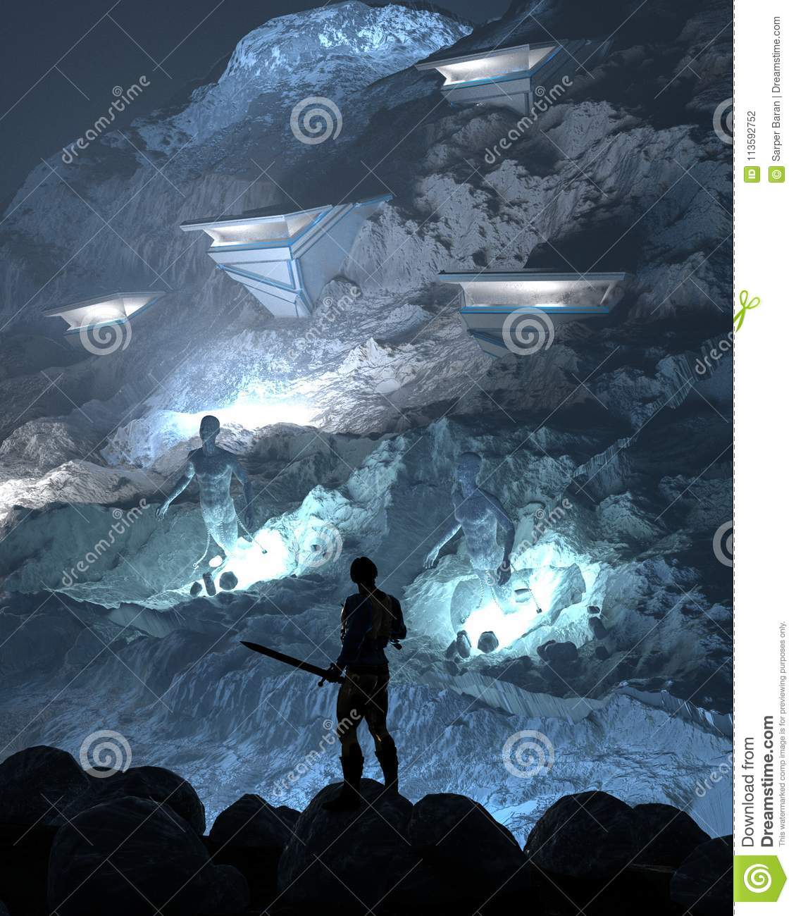 Damned Souls stock illustration  Illustration of render - 113592752