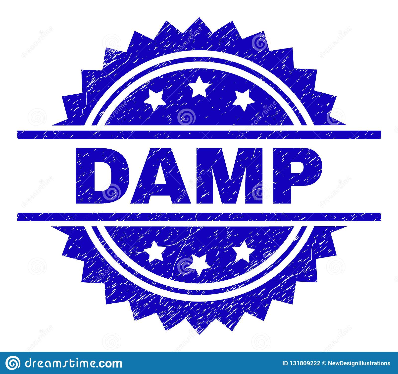 Scratched Textured DAMP Stamp Seal