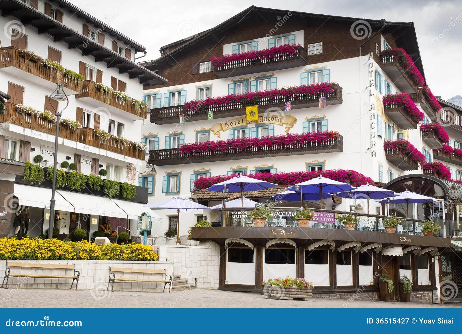 DAmpezzo de Cortina de paysage urbain, Italie