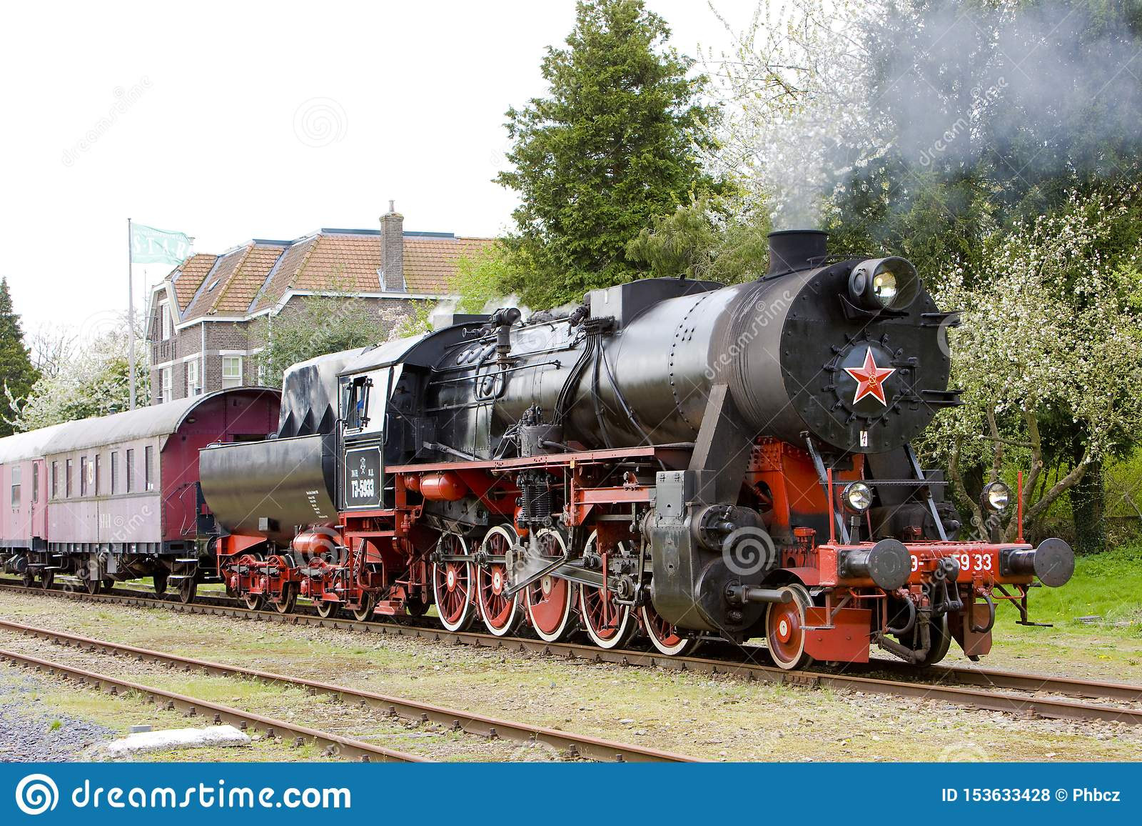 Dampfzug, Veendam - Stadskanaal, die Niederlande