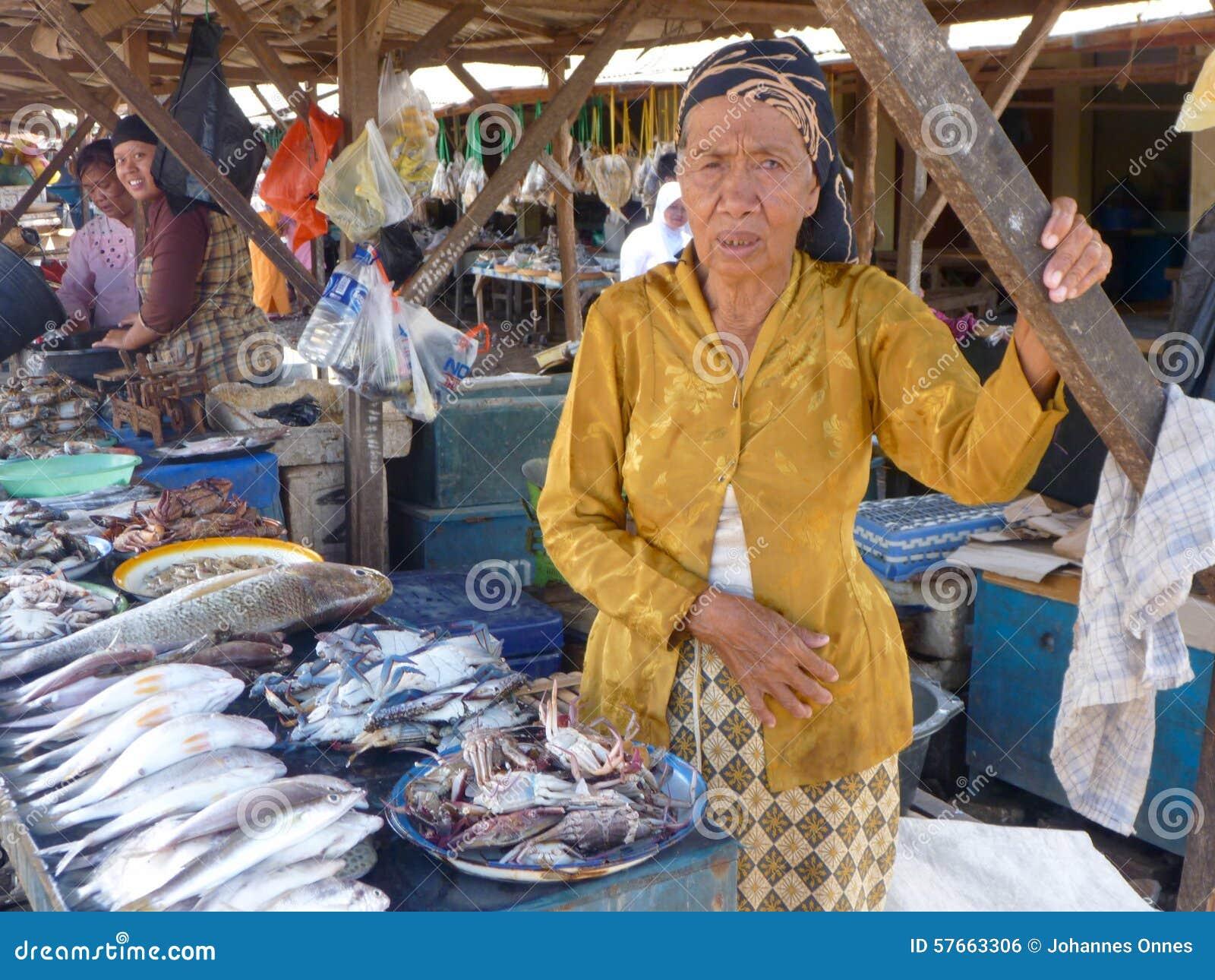 Damy sprzedawania ryba