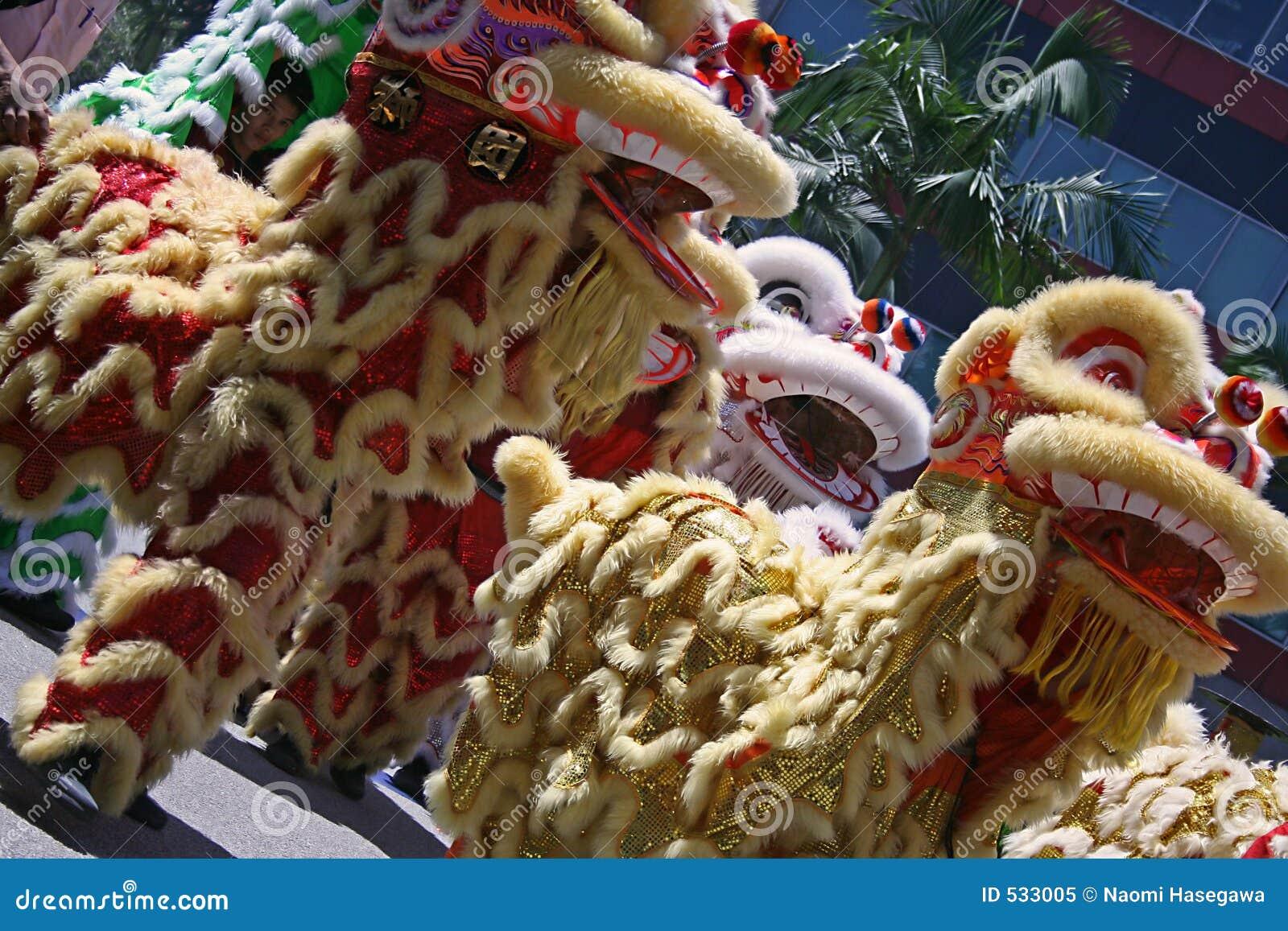 Dança chinesa do leão