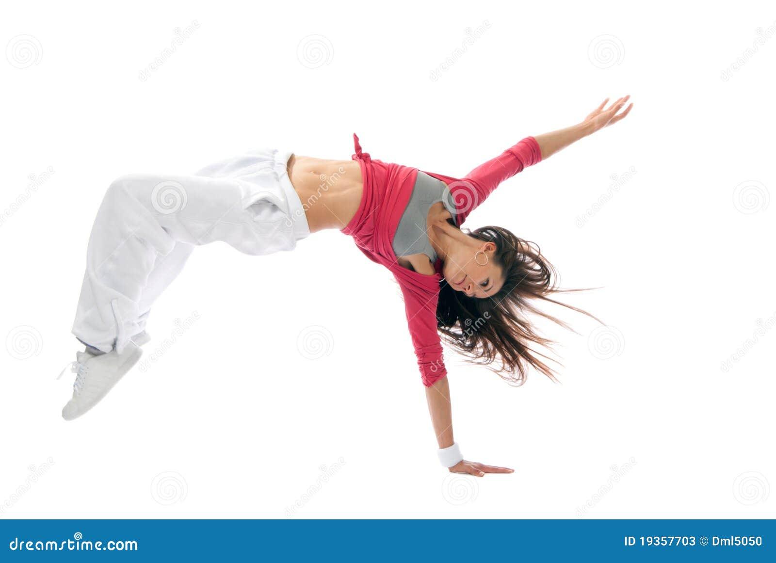 Dança de ruptura moderna do dançarino da mulher do estilo de hip-hop
