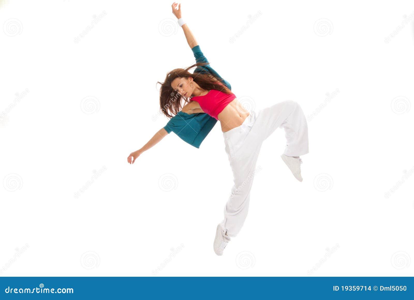 Dança de ruptura nova do dançarino da mulher do estilo de Hip-hop