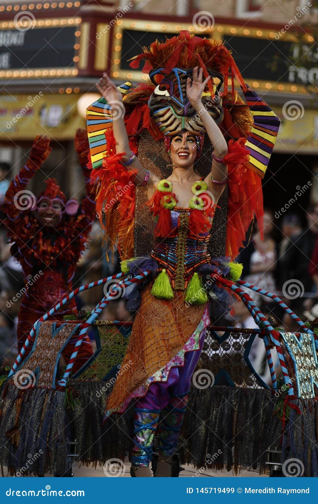 Dançarino da parada de Disneylândia