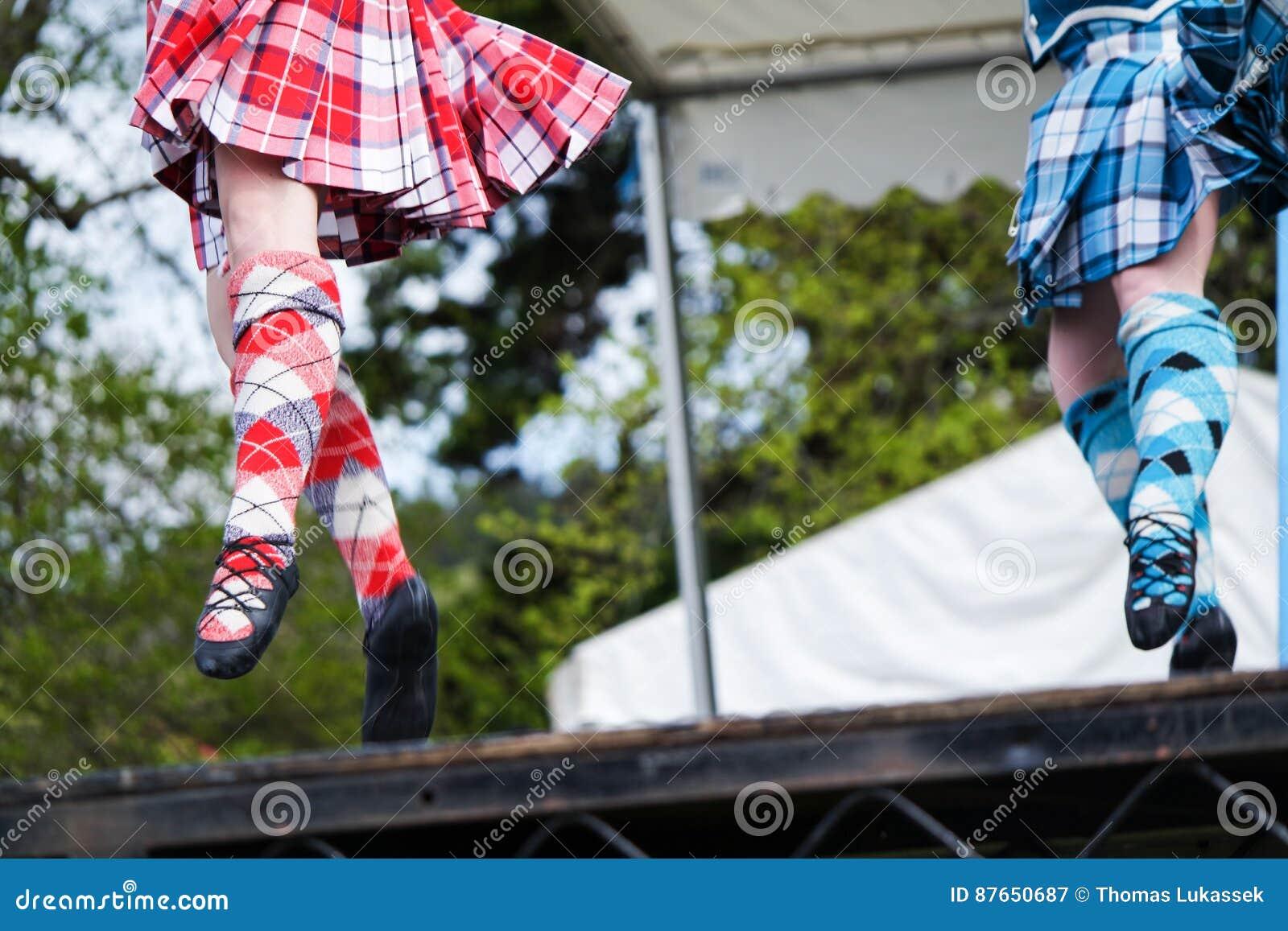 Dançarino das montanhas em jogos das montanhas em scotland