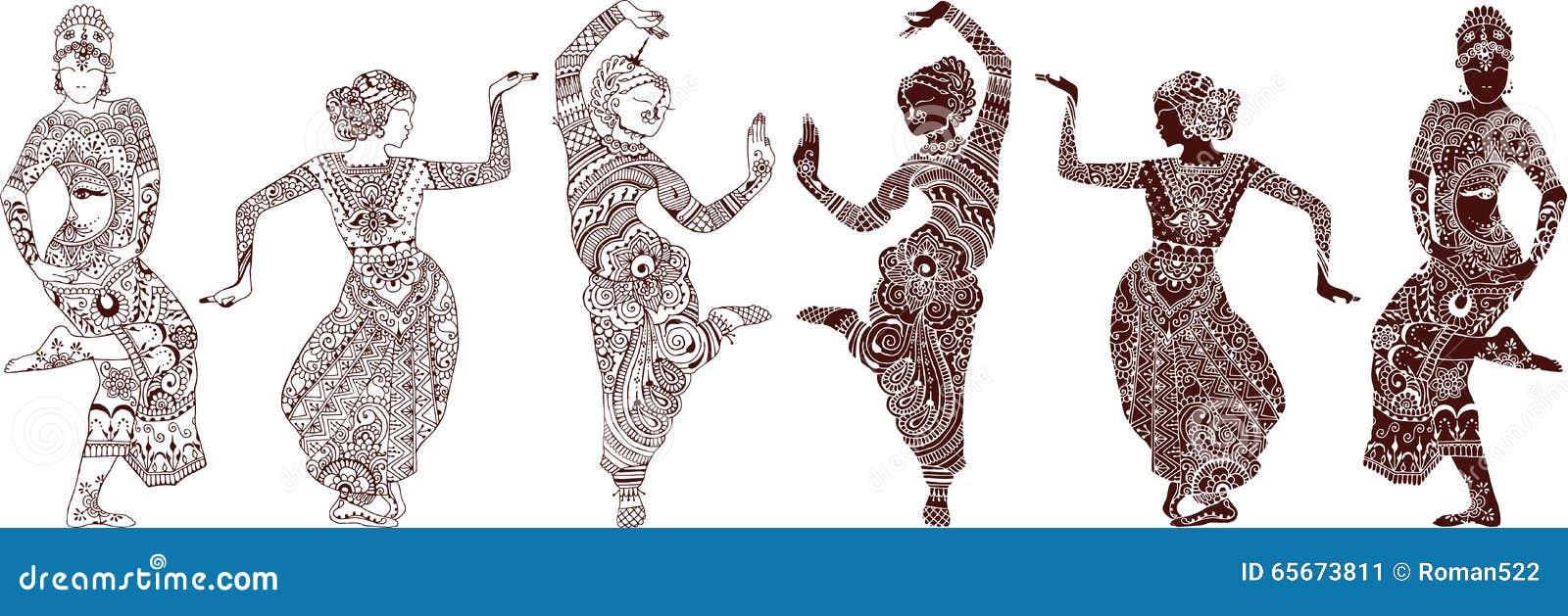 Dançarinos indianos ajustados