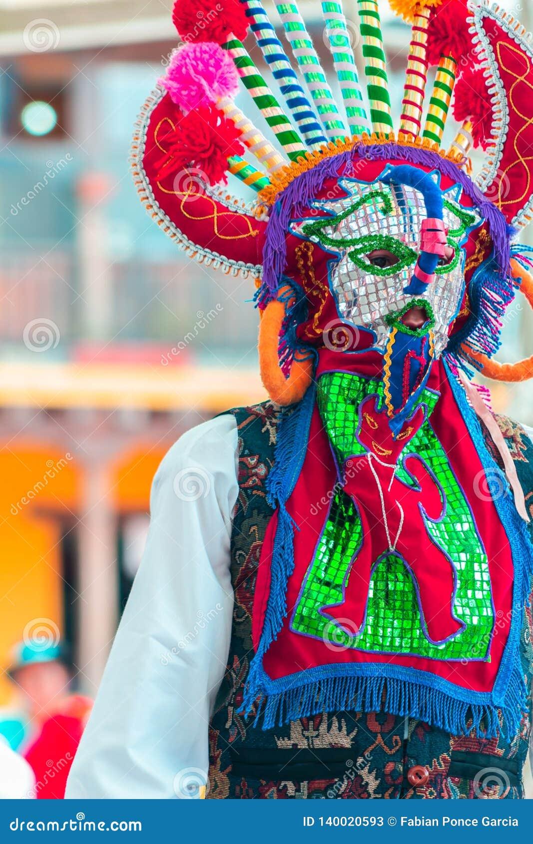 Dançarinos nativos de Equador