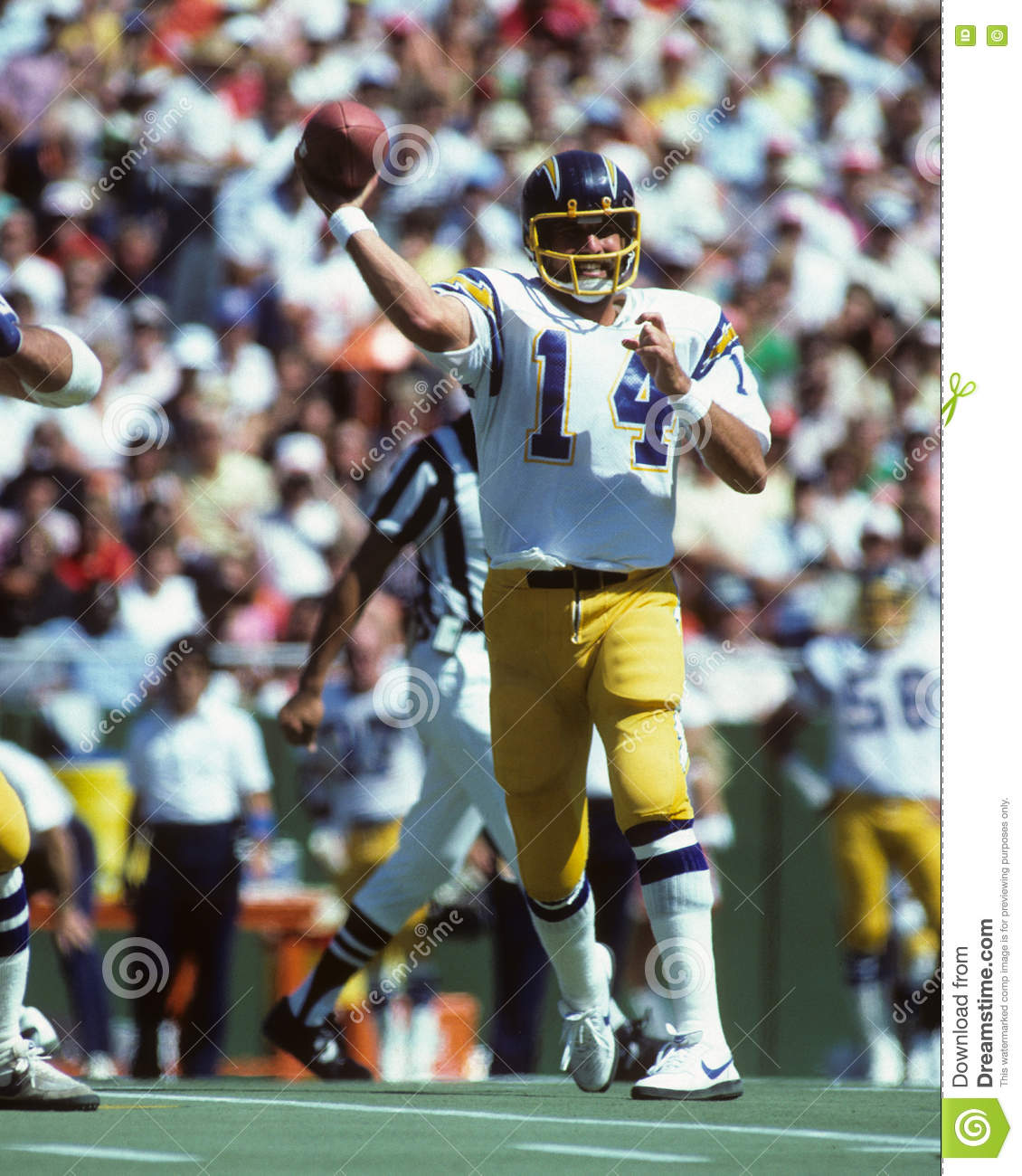 San Diego Chargers Dan Fouts: Dan Fouts San Diego Chargers Immagine Stock Editoriale