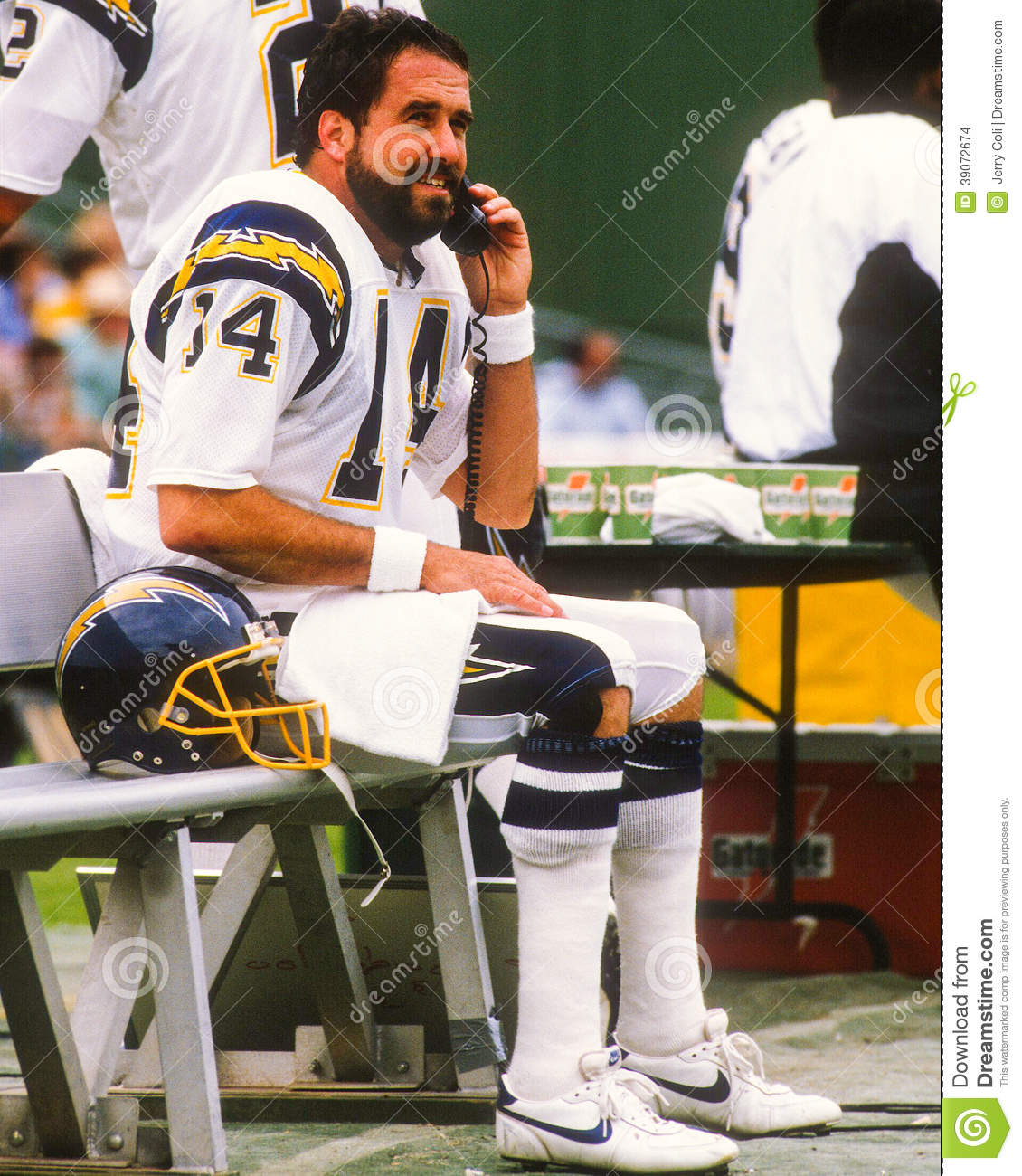 San Diego Chargers Dan Fouts: Dan Fouts San Diego Chargers Editorial Stock Image