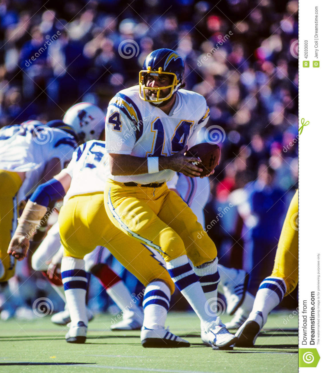 San Diego Chargers Hall Of Fame Players: Dan Fouts San Diego Chargers Editorial Stock Photo