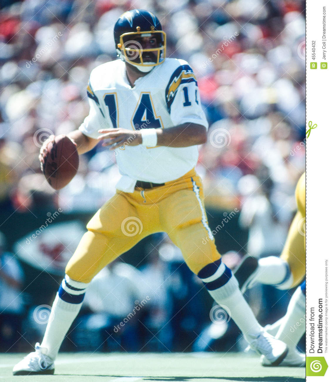 San Diego Chargers Hall Of Fame Players: Dan Fouts San Diego Chargers Editorial Photography