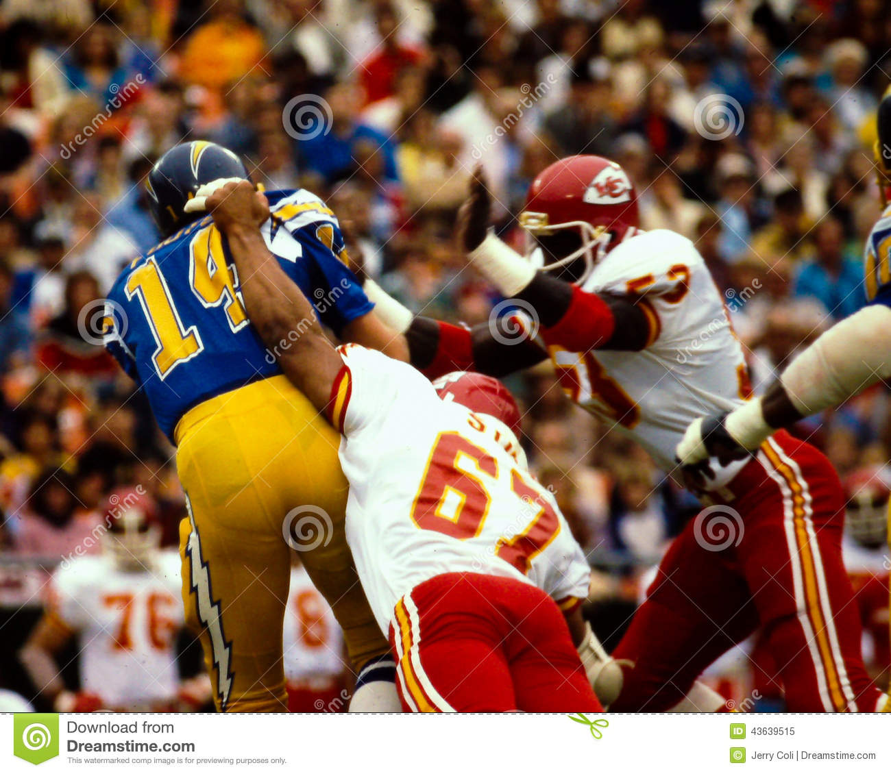 San Diego Chargers Dan Fouts: Dan Fouts San Diego Chargers Editorial Image