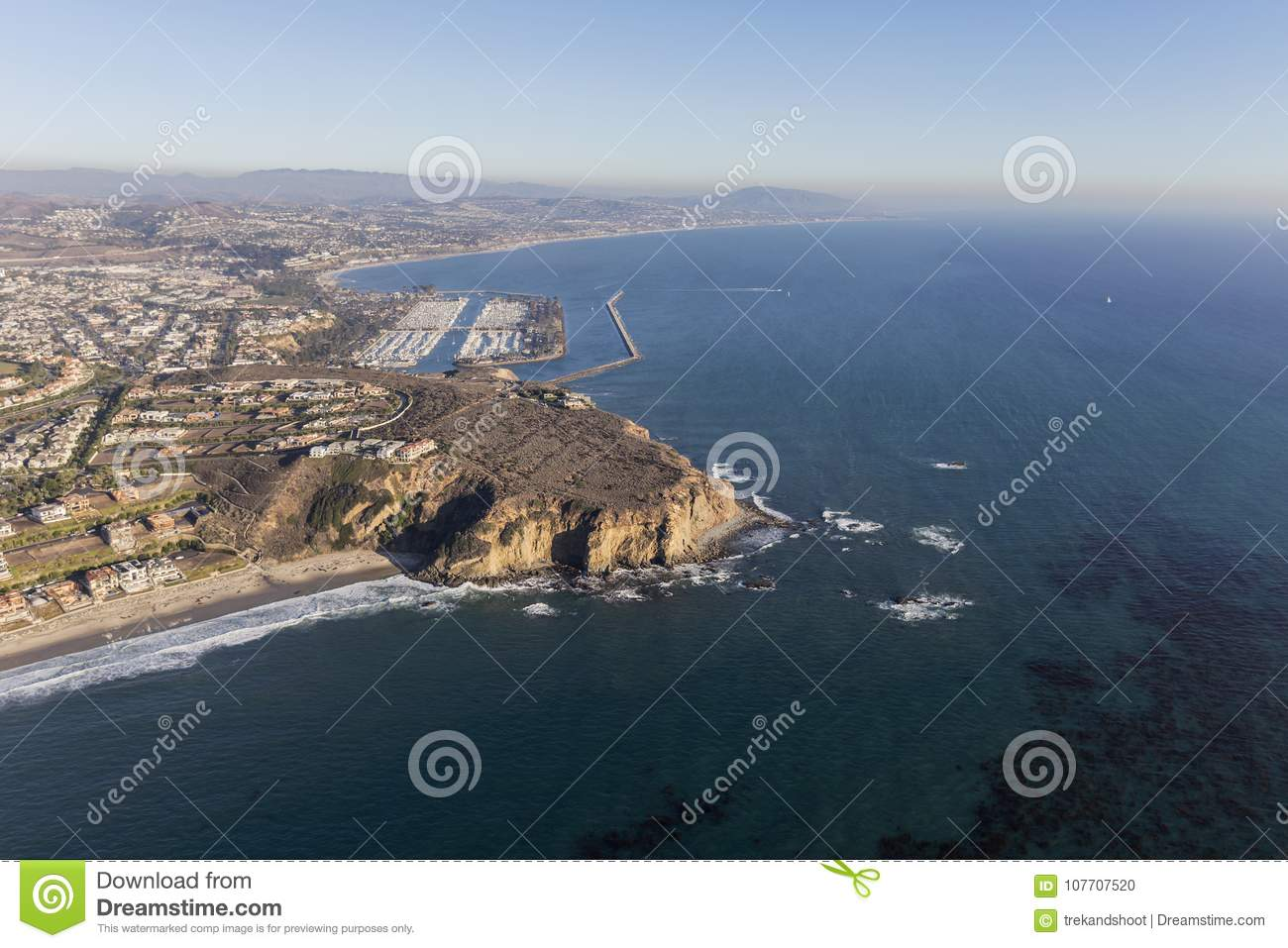Dana Point California Coast Aerial