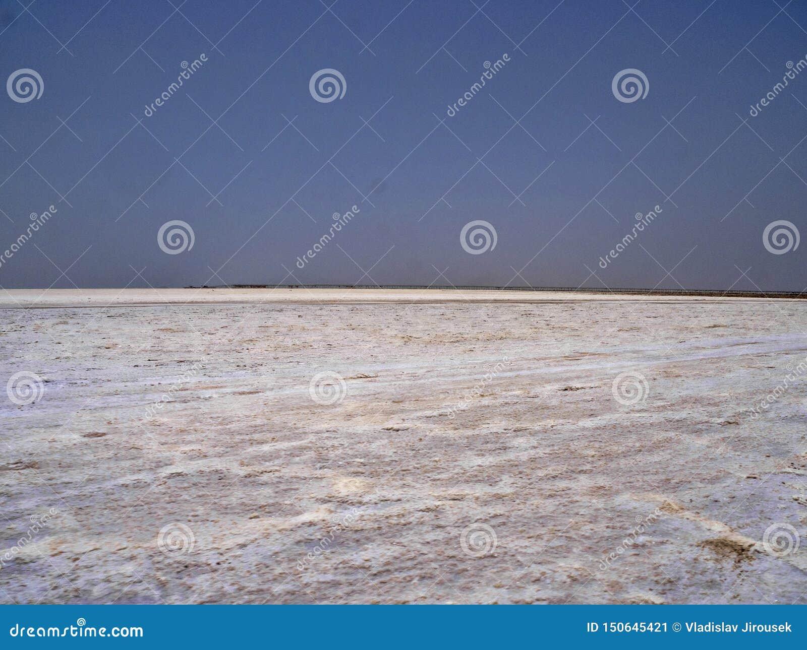 Danakil消沉的不尽的盐沙漠 埃塞俄比亚