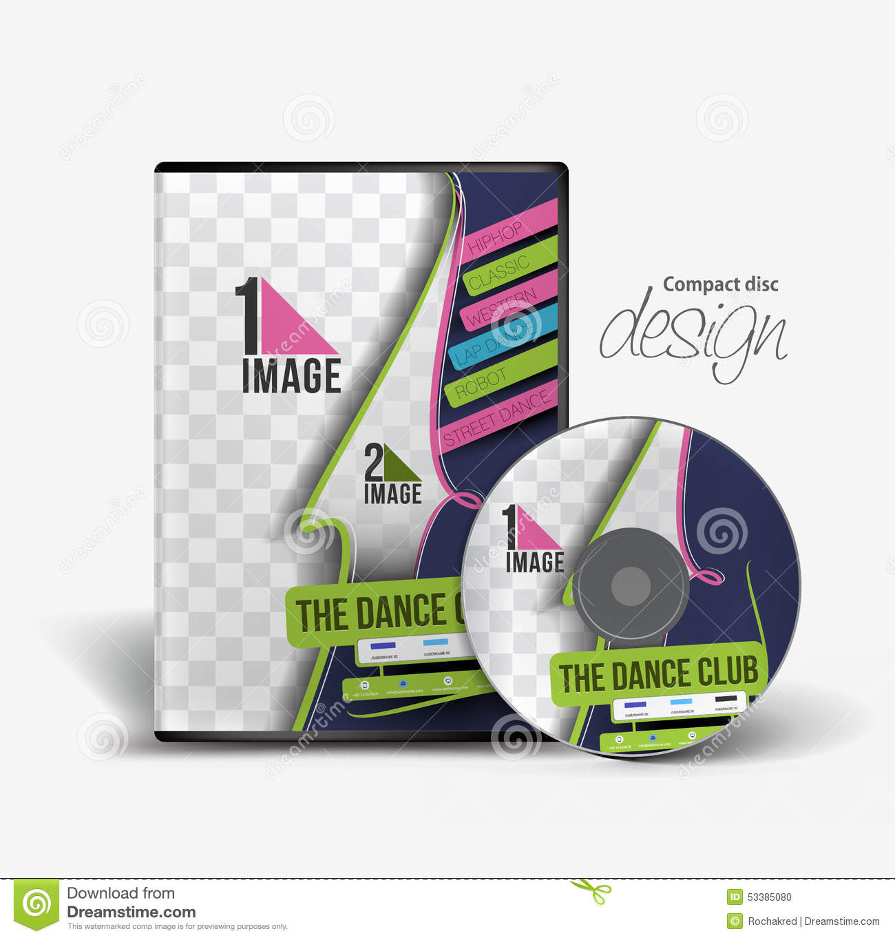 Dance Academy Traning DVD Case Design Stock Vector ...