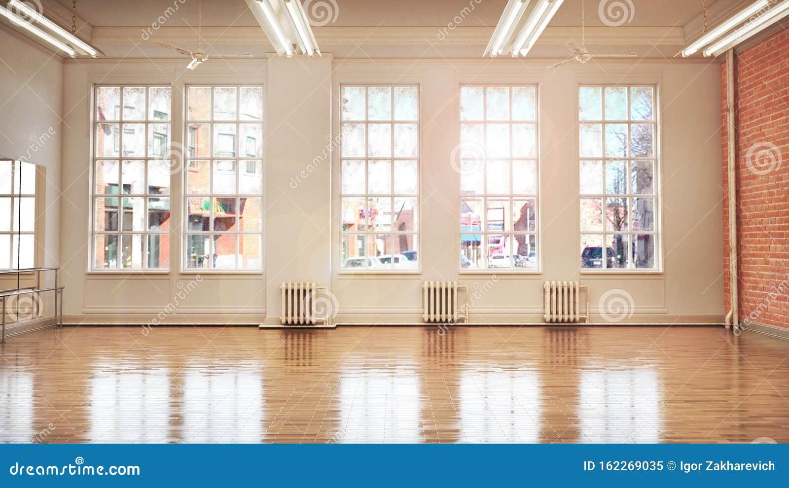 Dance Or Ballet Studio Interior Stock Illustration Illustration Of Glass Energy 162269035