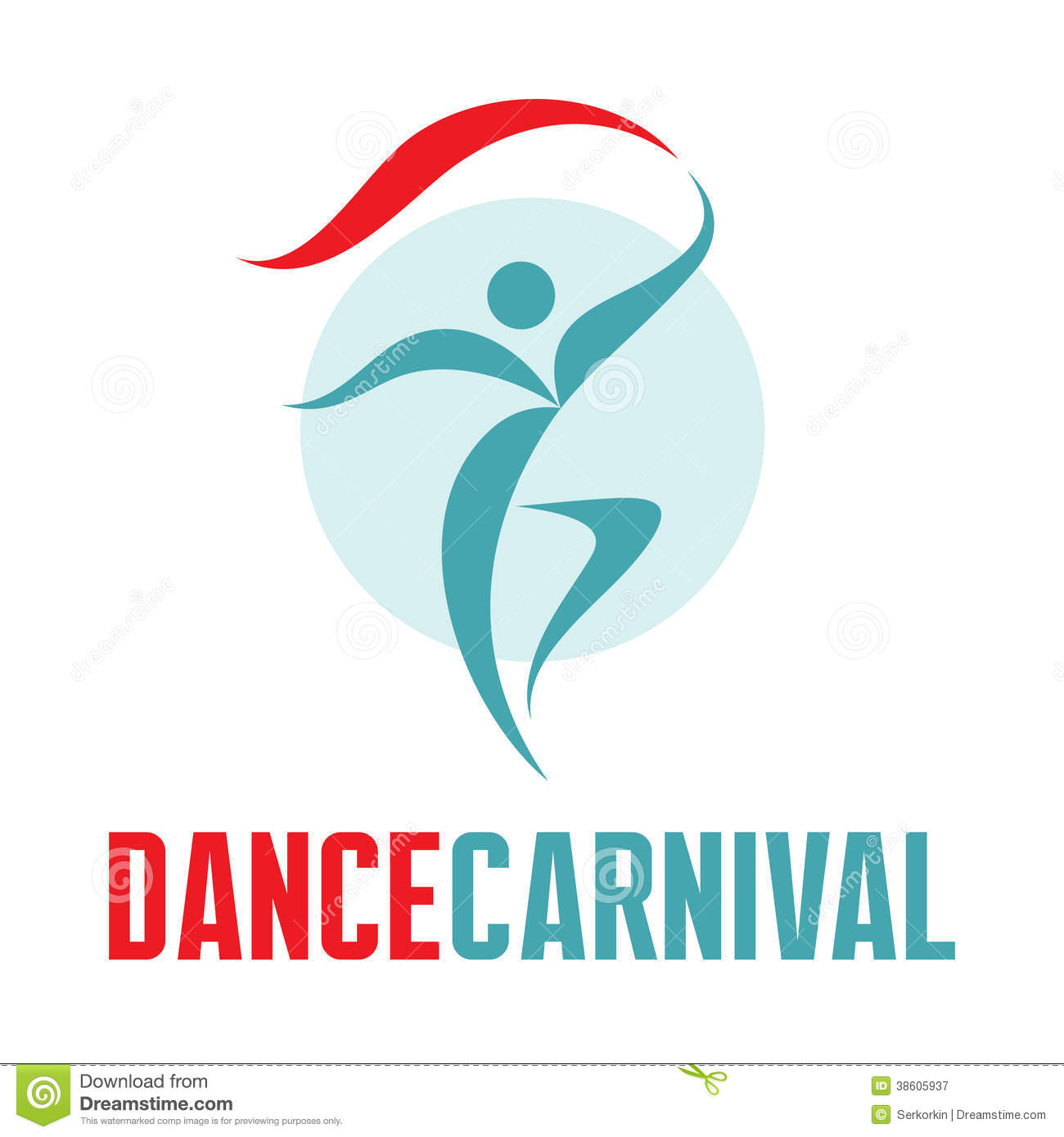 Dance Carnival - Vector Logo Template Stock Vector - Illustration ... for Logo Design Samples Free Download  110ylc