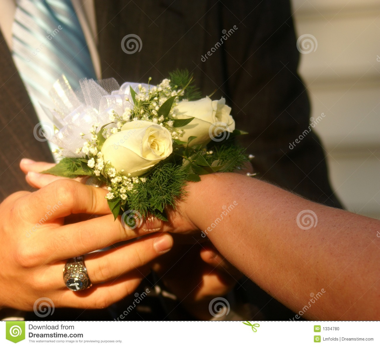 Dance Corsage on Wrist stock photo  Image of friend, courter