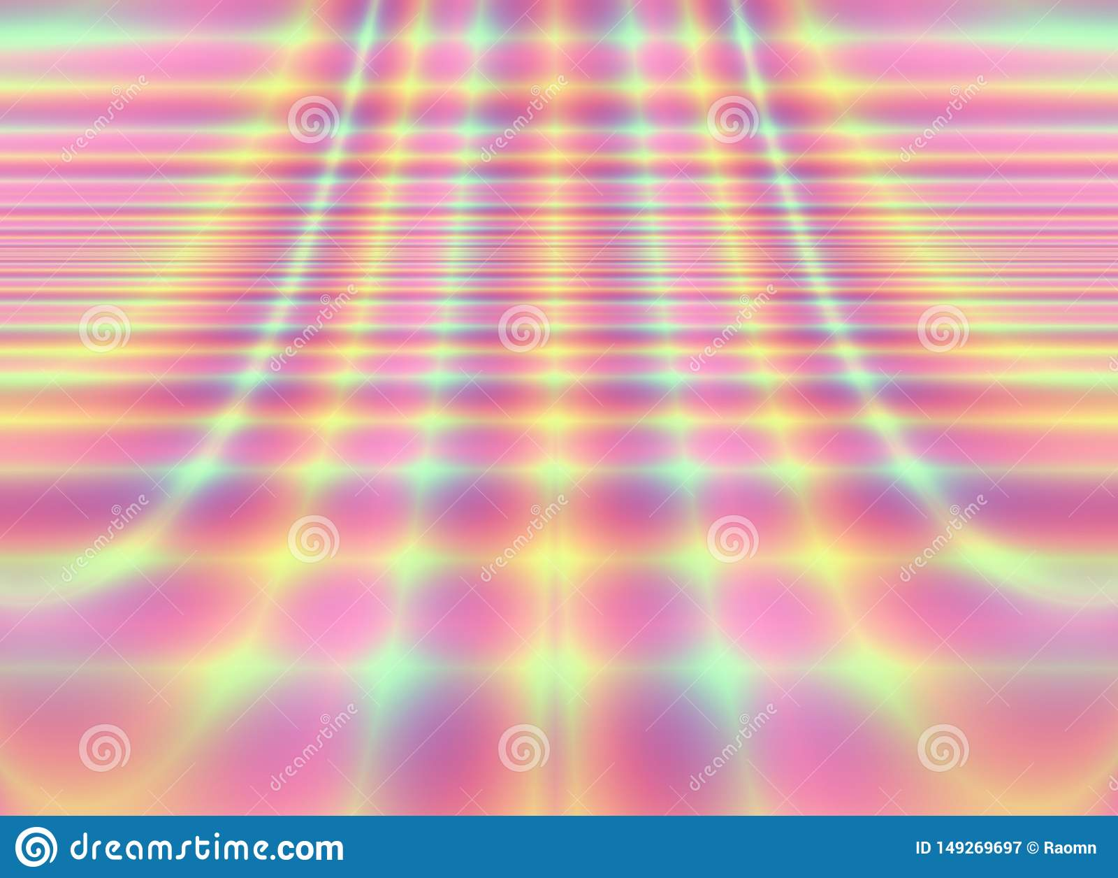 Dance Floor Art Neon Light Abstract Wallpaper Stock