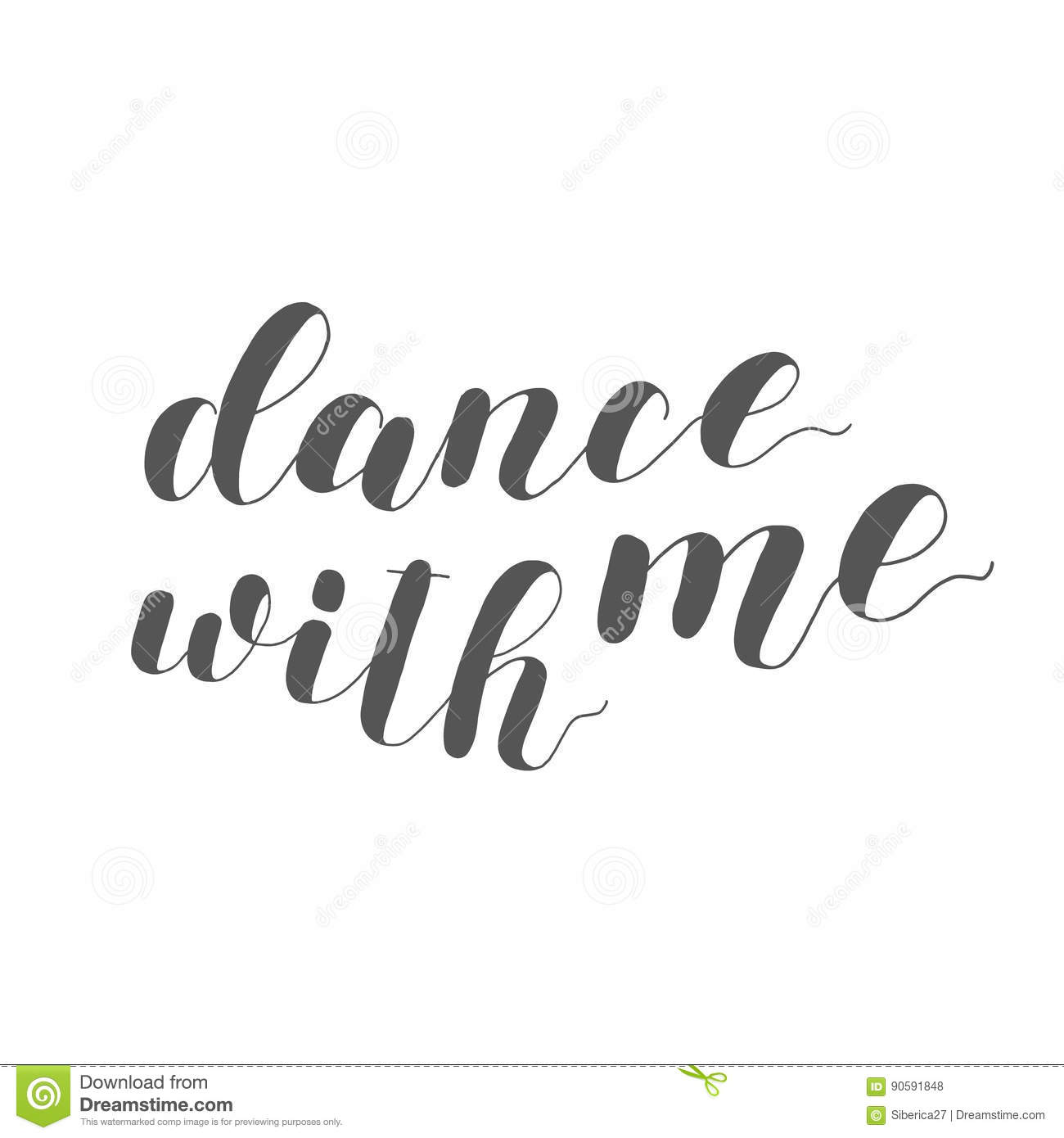 dance with me lettering illustration stock photo image of card typography 90591848. Black Bedroom Furniture Sets. Home Design Ideas