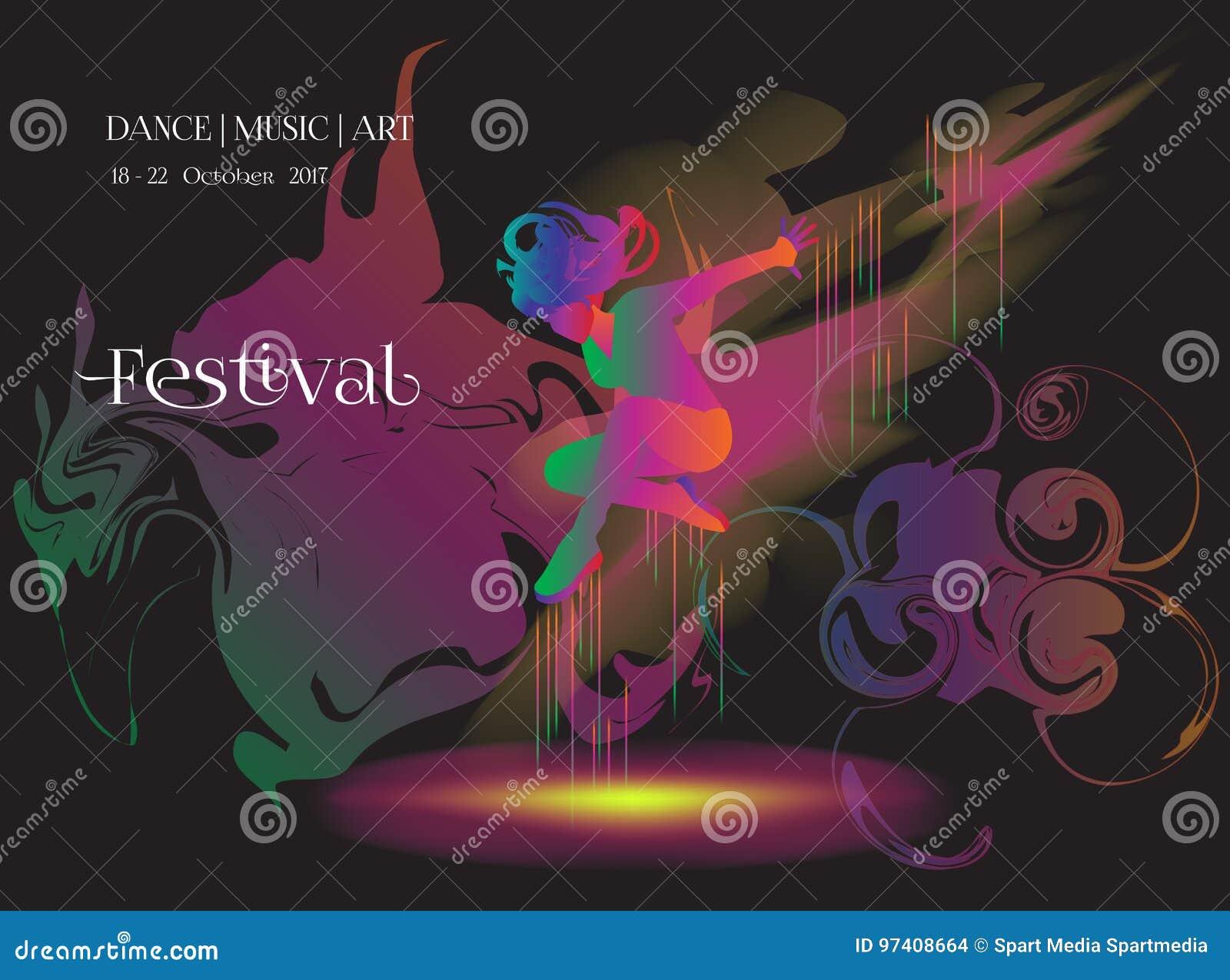 Dance music art stock vector  Illustration of drum, down