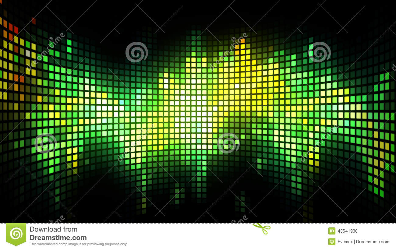 Dance Music Light Box Background Stock Illustration
