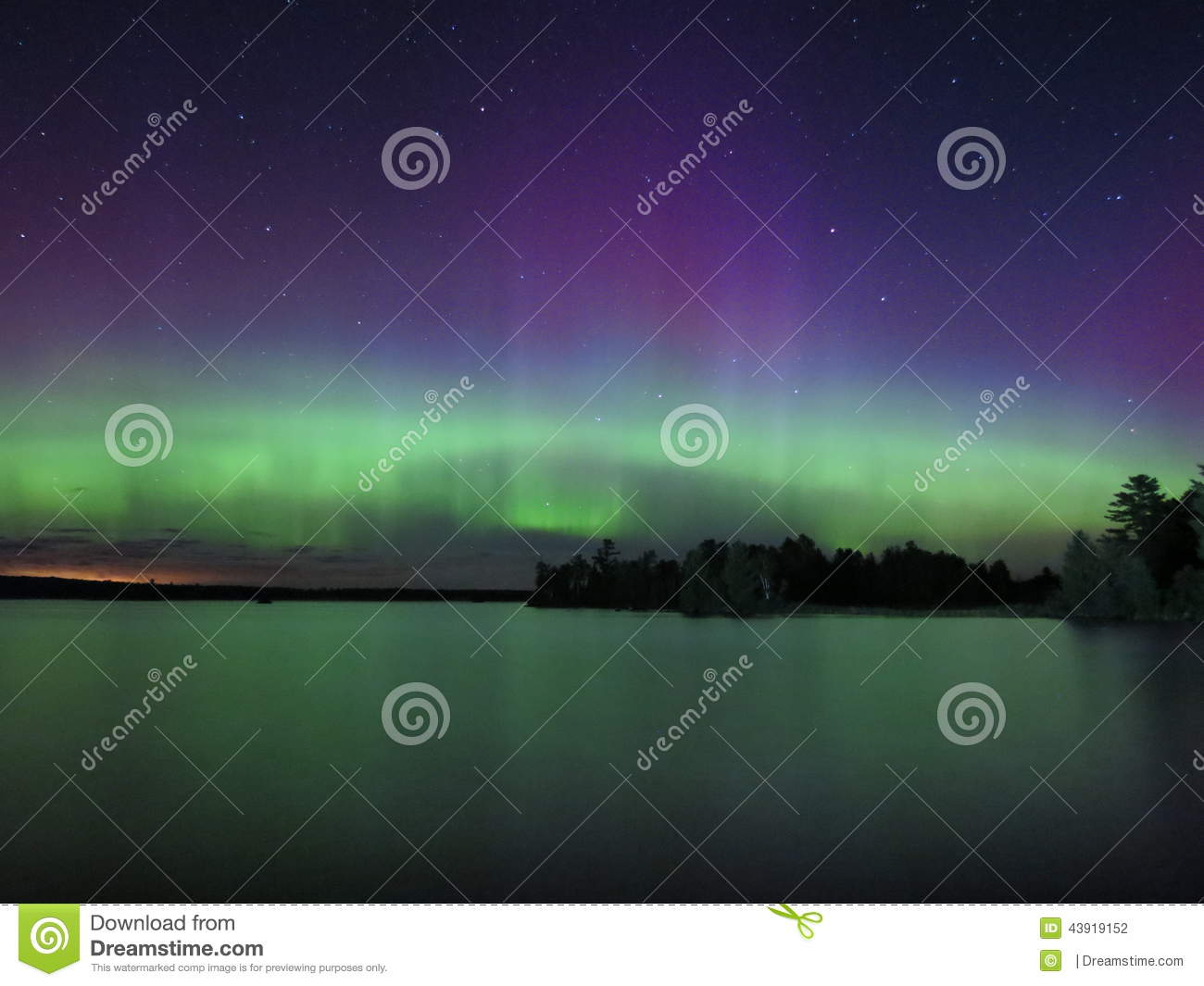 dance of the northern lights stock photo image of shines waters