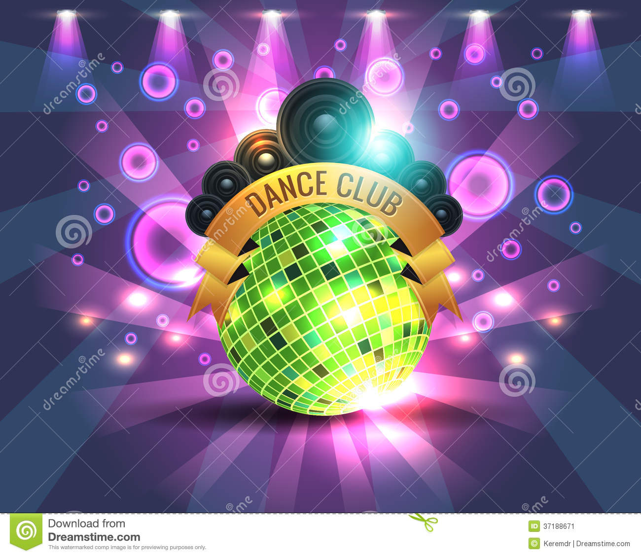 Dance Party Banner Background Flyer Templates Stock Vector Illustration Of Girl Ball 37188671