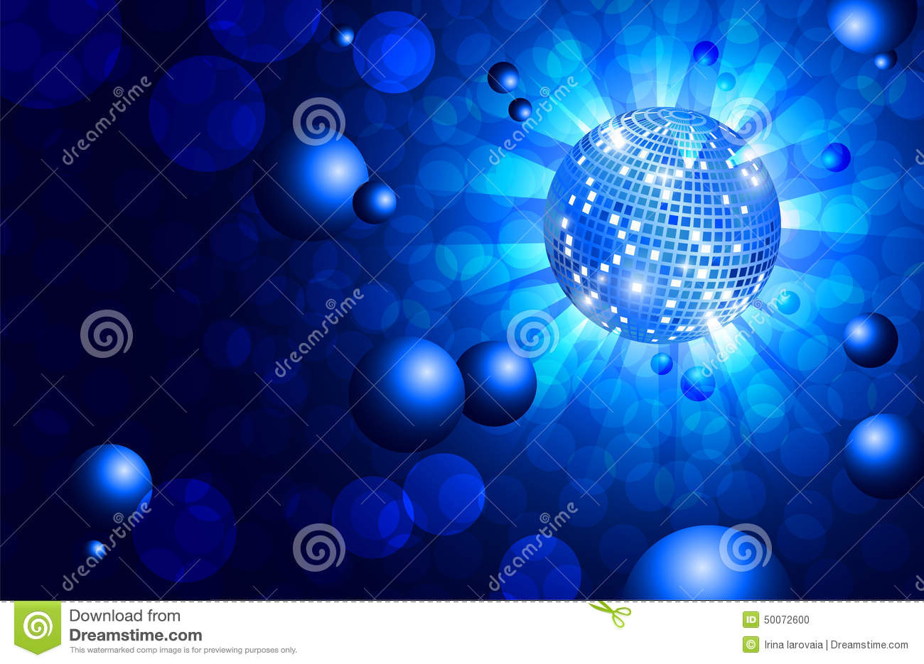 musical background blue dance party flyer vector stock vector