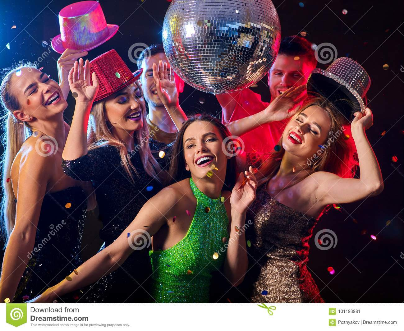 Party at nightclub stock image. Image of group, female ...  |People Having Fun In A Club