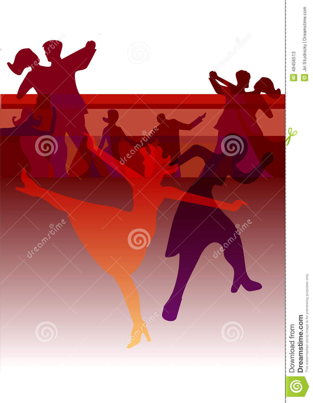 Dance Party Invitation Background Stock Vector - Illustration of ...