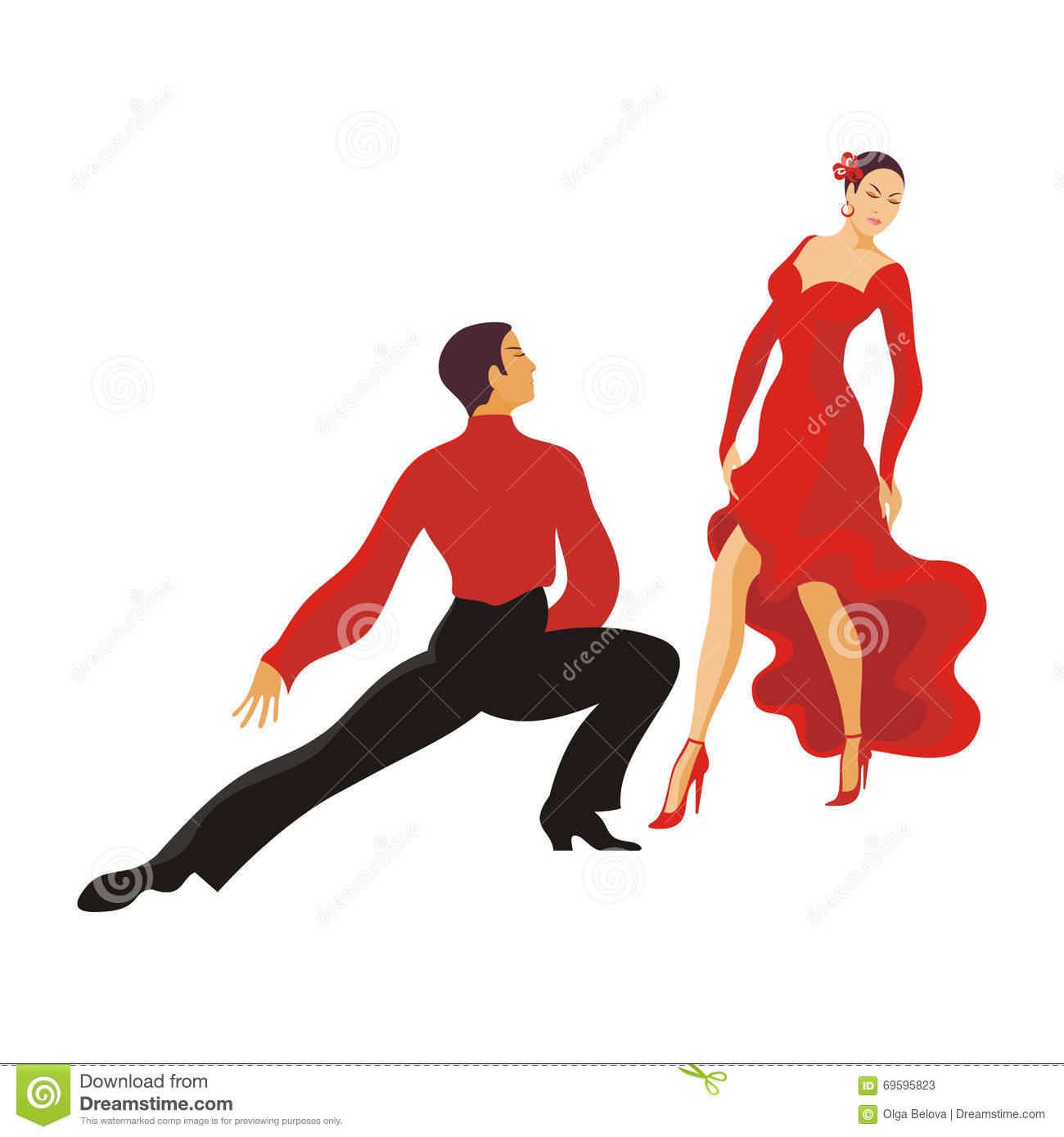 Dance Paso Doble Stock Vector - Image: 69595823