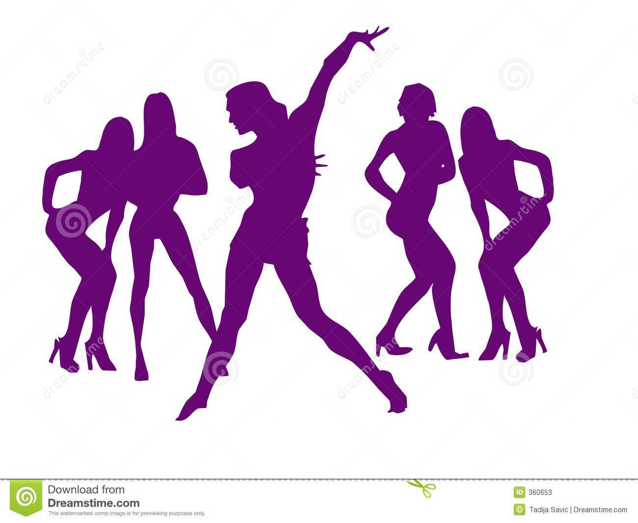 Dance Of Girls For New Years Stock Photos - Image 360653-5923
