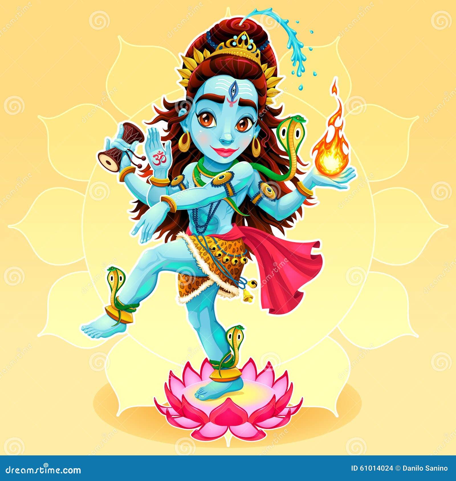 Dance Of Shiva Stock Vector - Image: 61014024