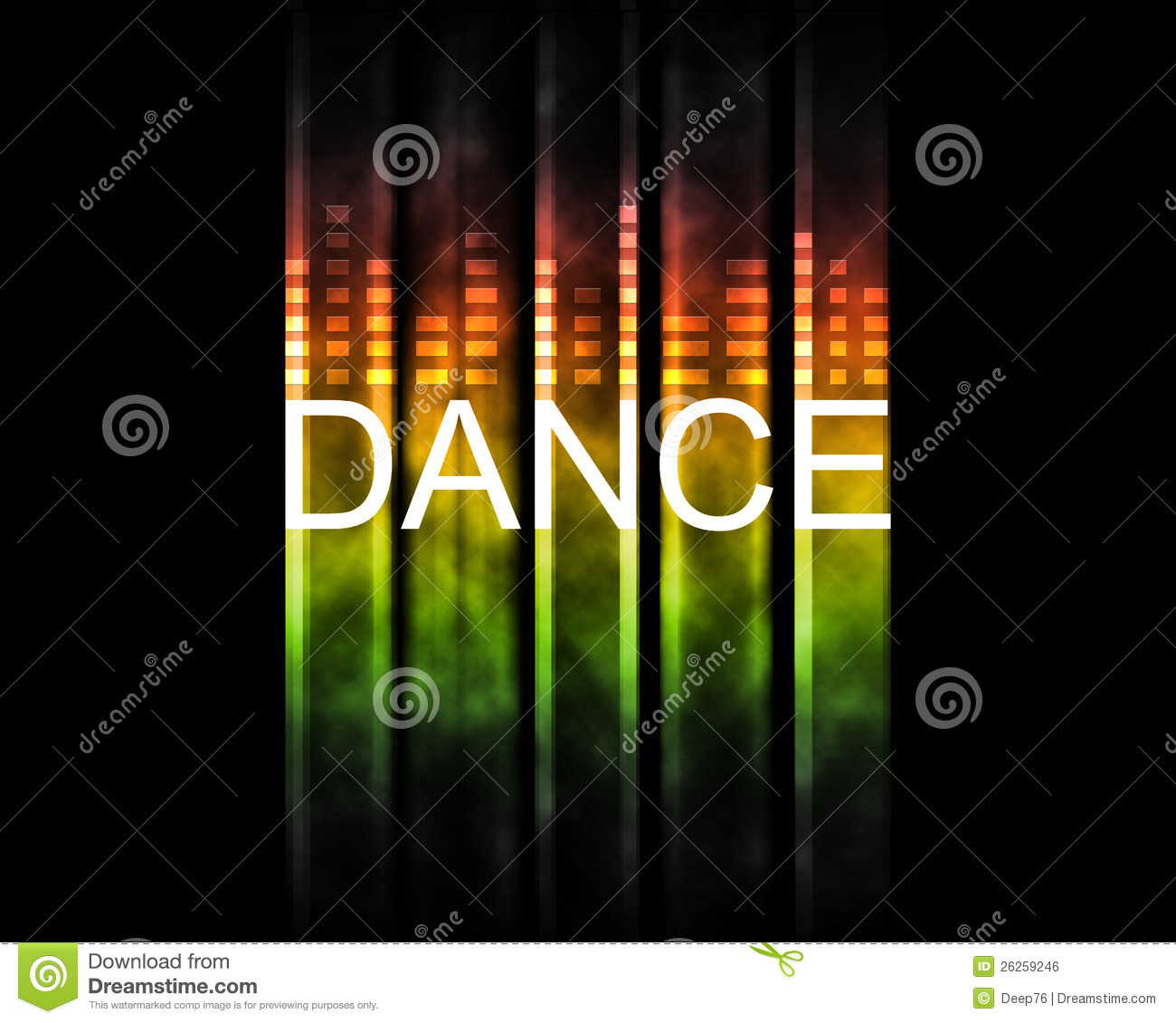 Dance Text Backround Stock Illustration Illustration Of