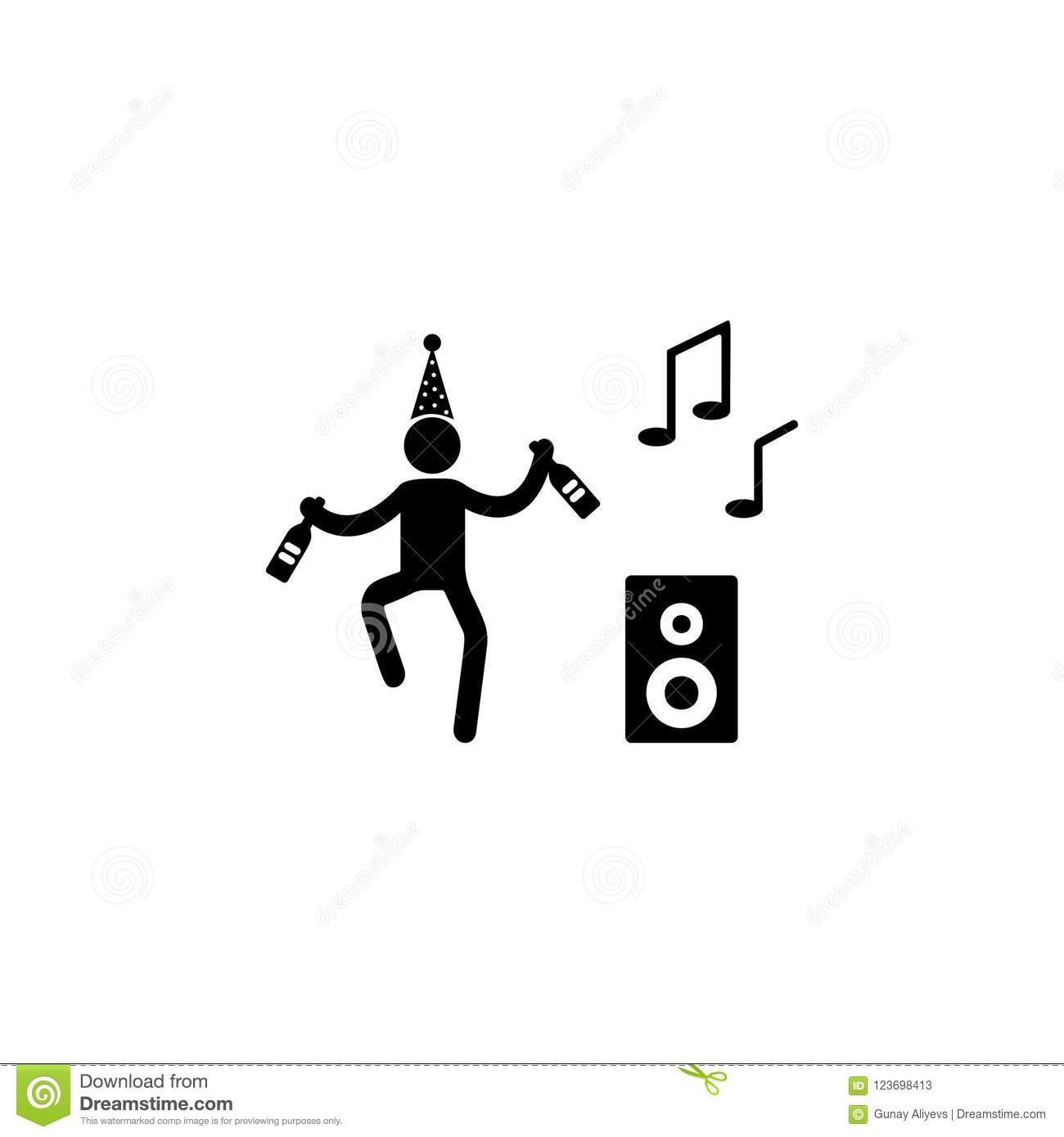 Dance To Music Icon  Element Of Party Icon For Mobile
